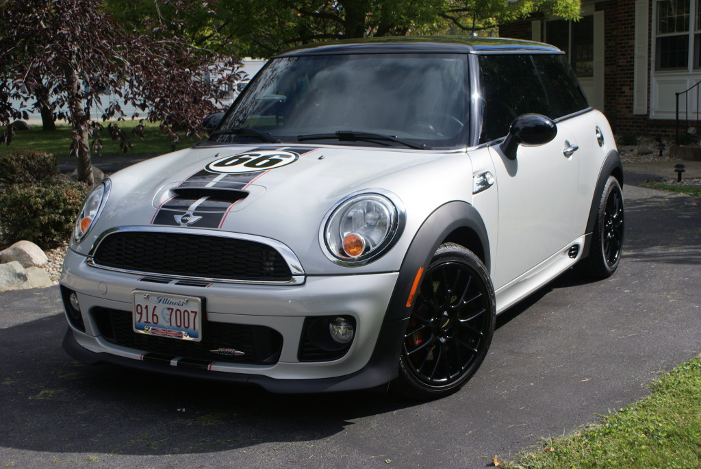 "Our 2013 John Cooper Works, known as ""Sexy 66"", was originally ordered from Oxford and detailed by the Indianapolis 500 Speedway. She was displayed at the Speedway to celebrate the 50th anniversary of the Cooper racing motors. The Riccardo seats add to the excellent ride provided by ""Sexy 66"". Look for us out touring!"